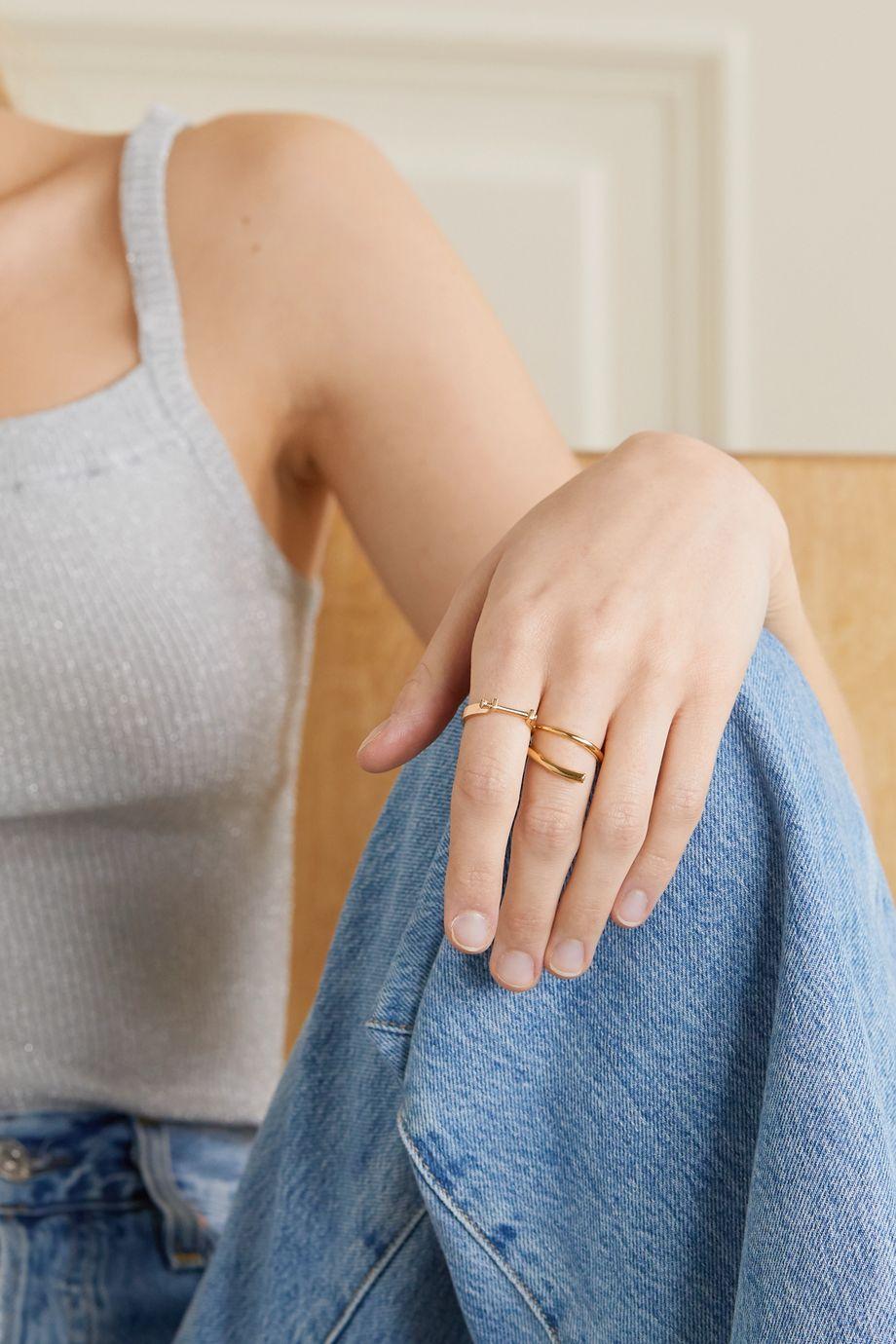 Hirotaka Indústria 10-karat gold diamond ring