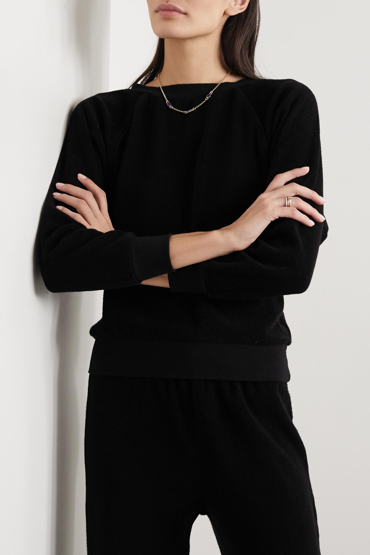 Suzie Kondi Cotton-terry sweatshirt