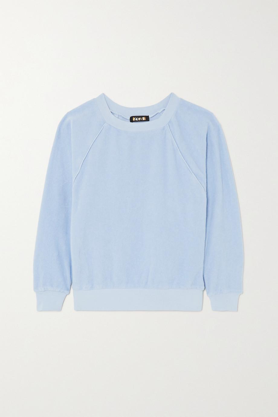 Suzie Kondi Cotton-velour top