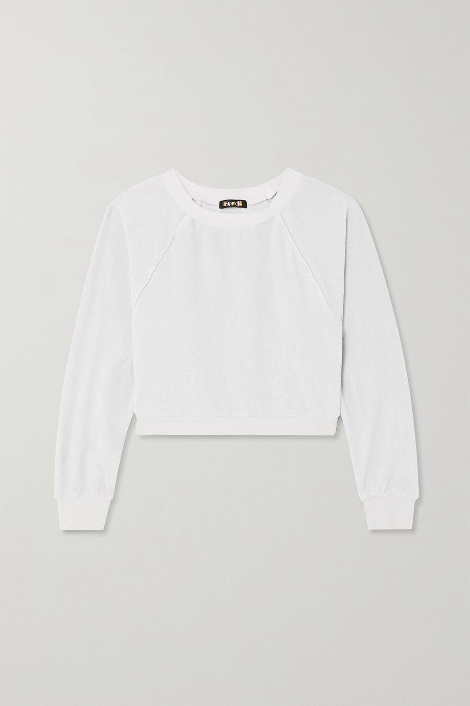 Suzie Kondi Cropped cotton-terry sweatshirt