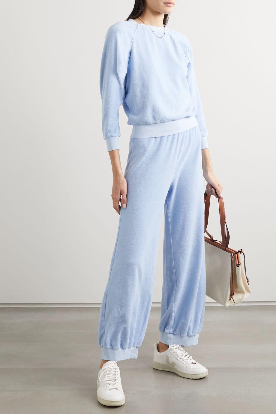 Suzie Kondi Pantalon de survêtement en velours de coton