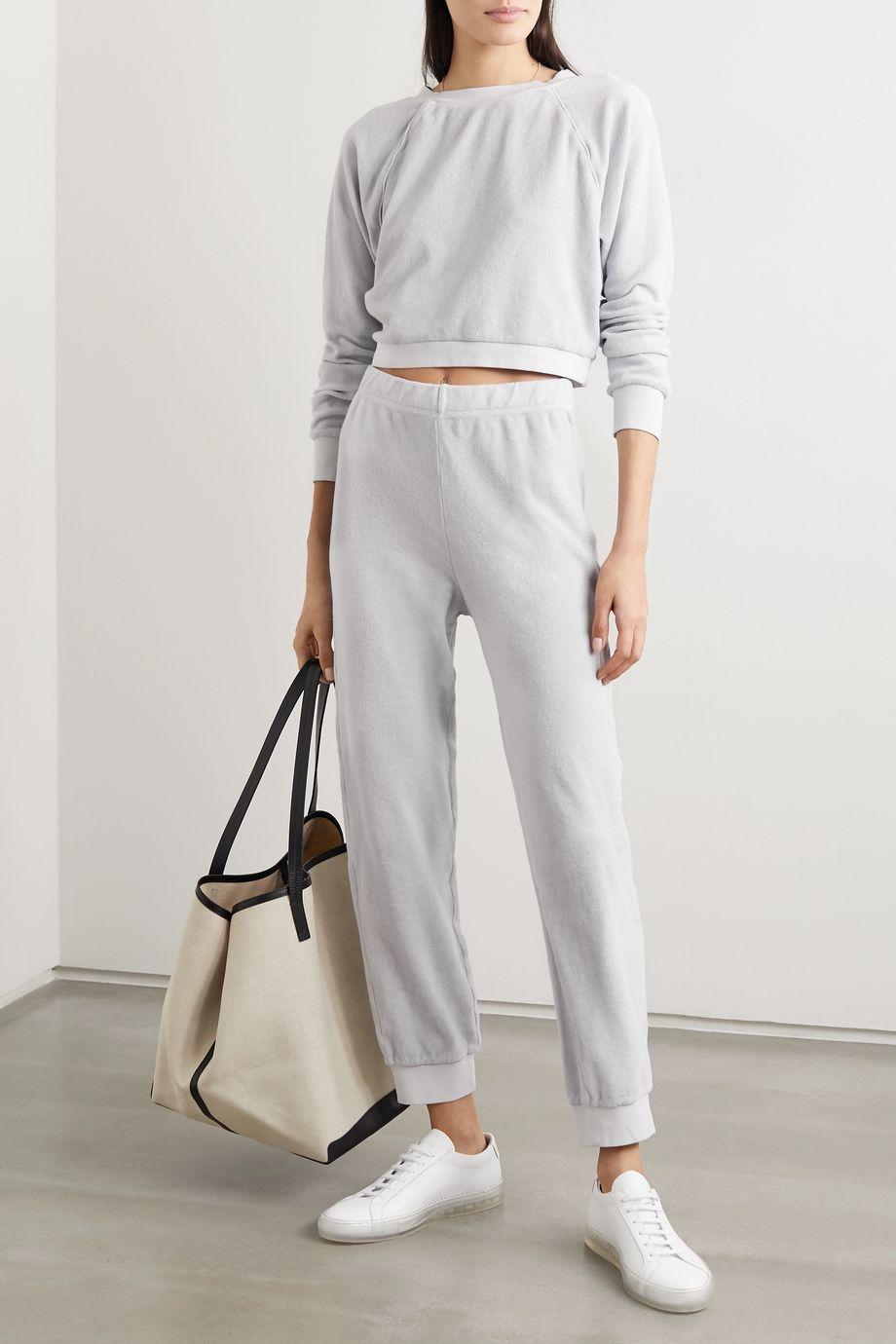 Suzie Kondi Cotton-terry track pants