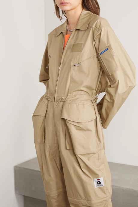 Oversized cutout cotton jumpsuit