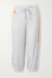 Pushbutton Printed cotton-jersey track pants