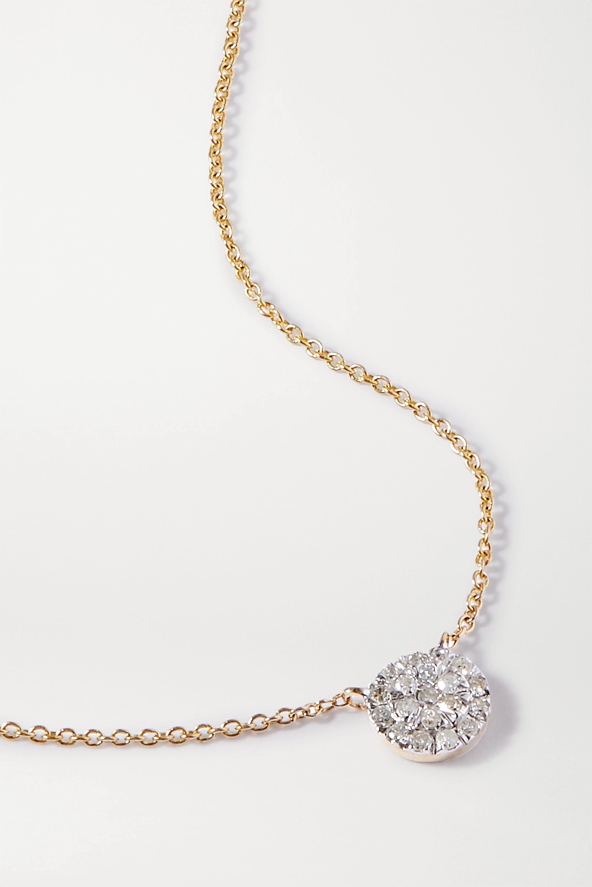 STONE AND STRAND Strength In Solitude 14-karat gold diamond necklace