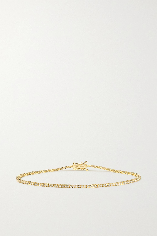 STONE AND STRAND 14-karat gold diamond bracelet