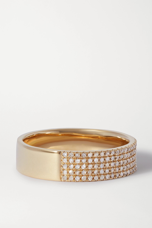 STONE AND STRAND Glamorous Ring aus 10 Karat Gold mit Diamanten