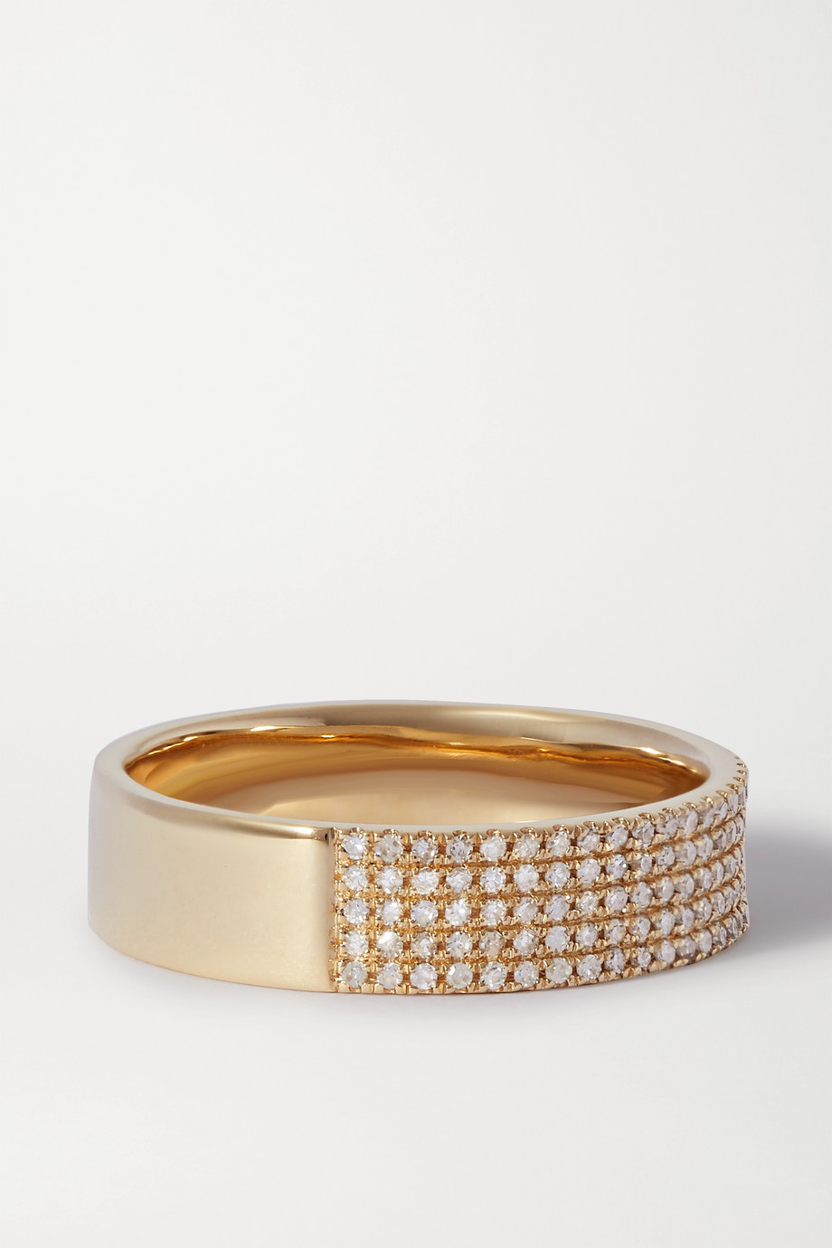 STONE AND STRAND Glamorous 10-karat gold diamond ring