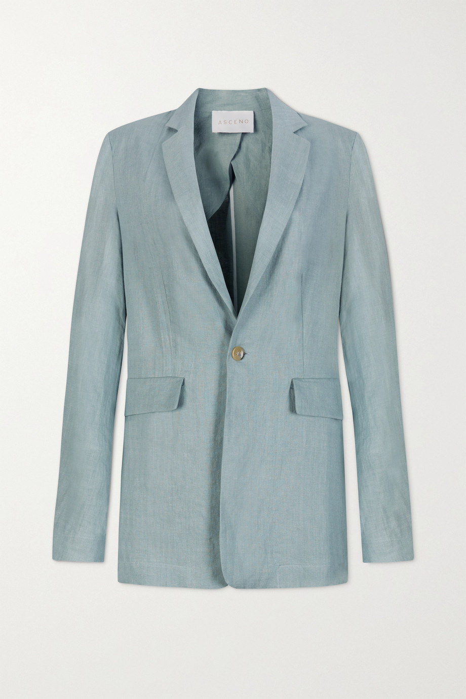 ASCENO Azores oversized organic linen blazer
