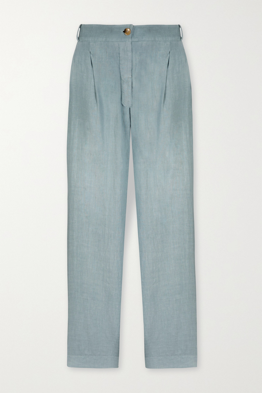ASCENO Rivello organic linen wide-leg pants