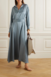 ASCENO Porto silk-satin maxi dress