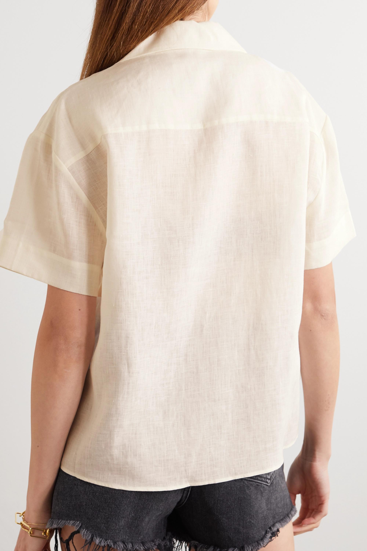 ASCENO Prague organic linen shirt