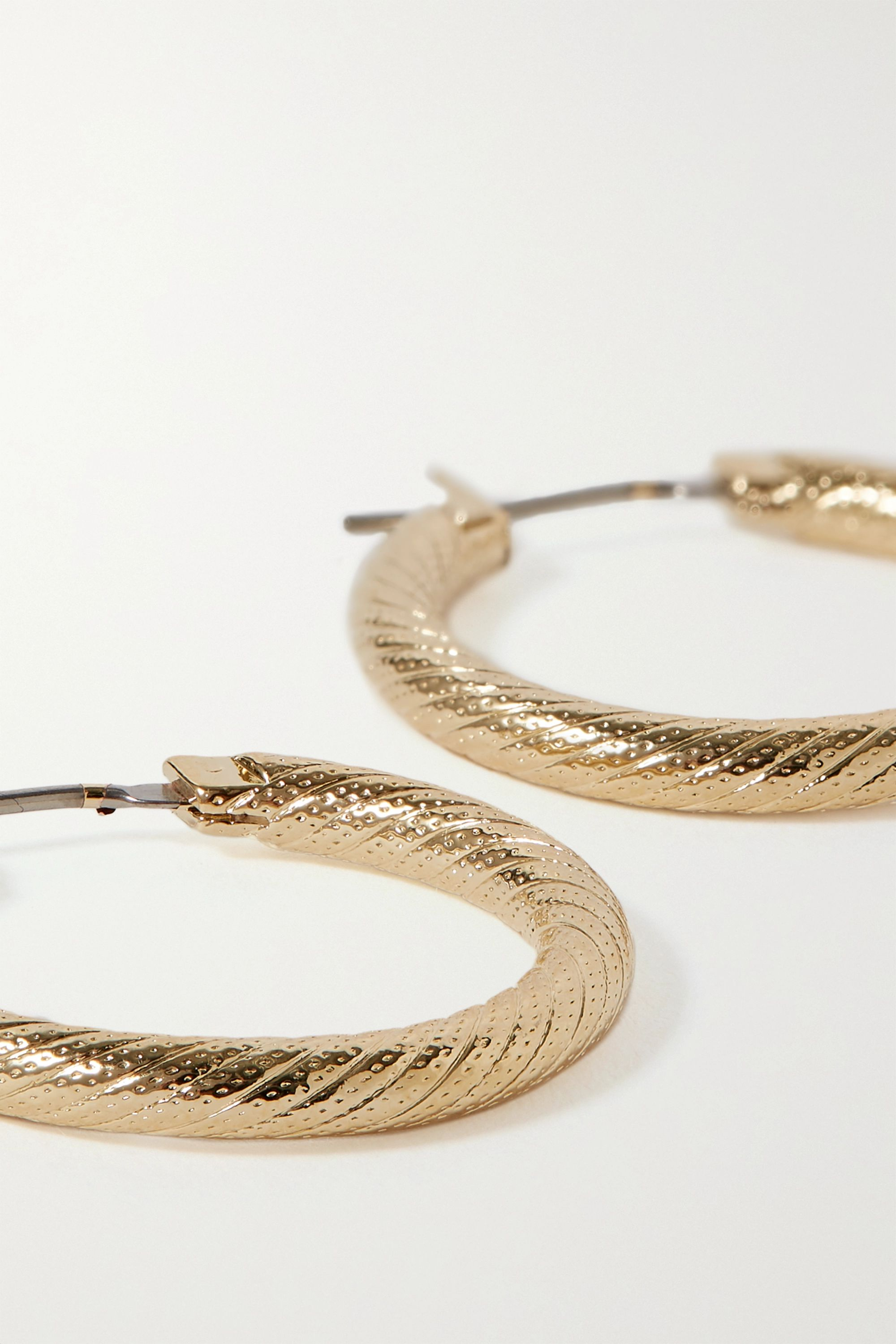 Laura Lombardi Gold-plated hoop earrings