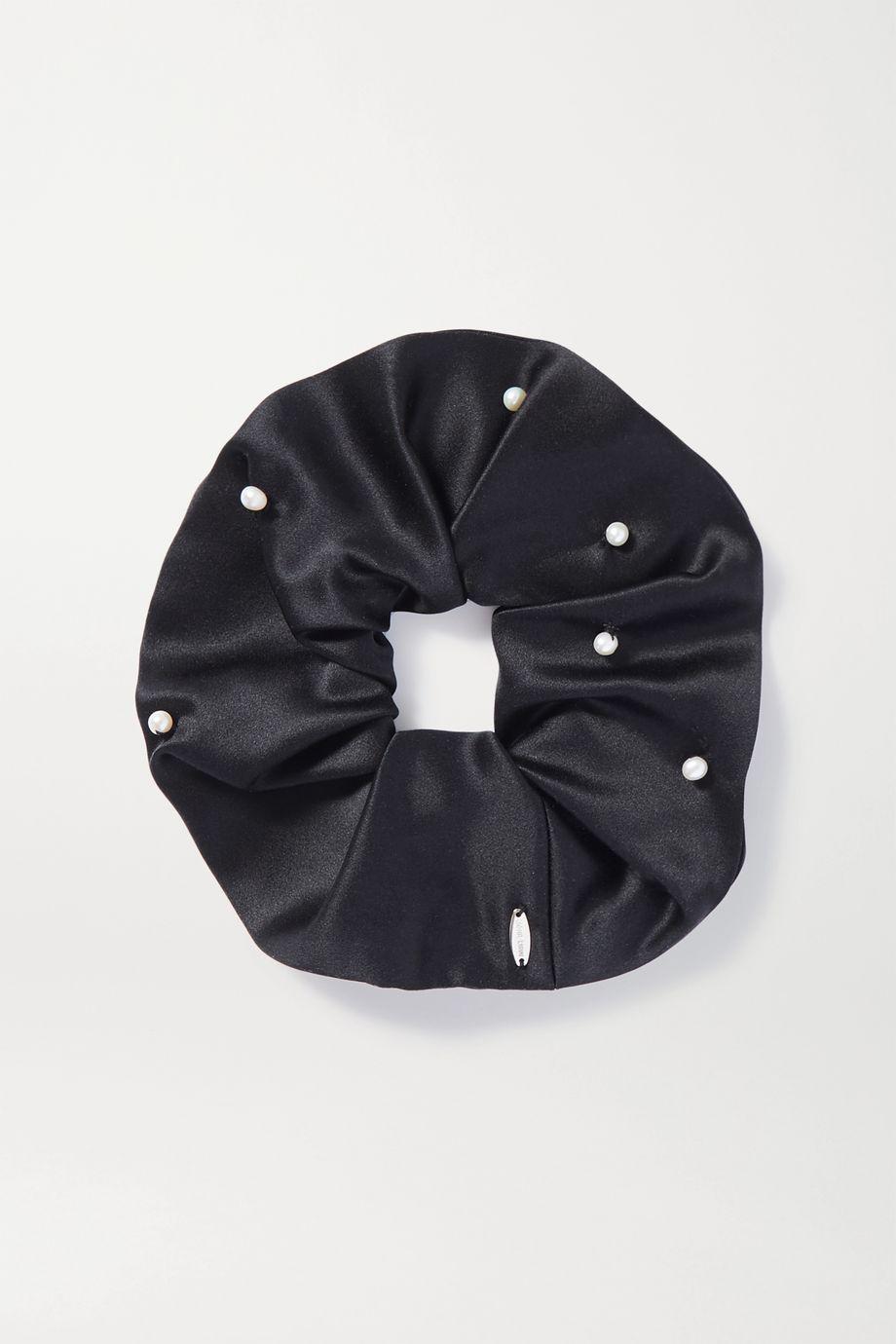 Sophie Buhai Pearl-embellished satin hair tie