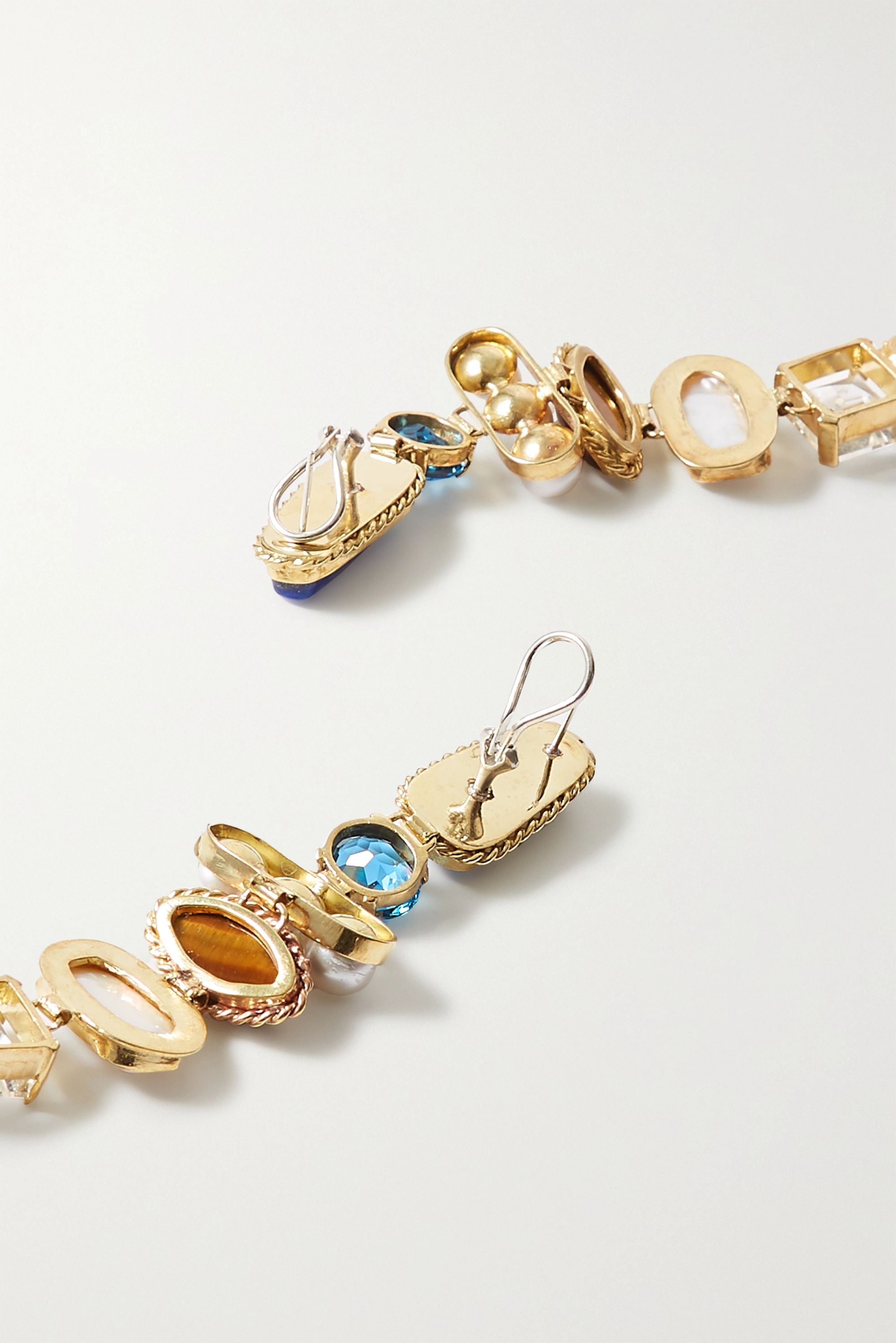 Sophie Buhai + NET SUSTAIN gold-tone multi-stone earrings