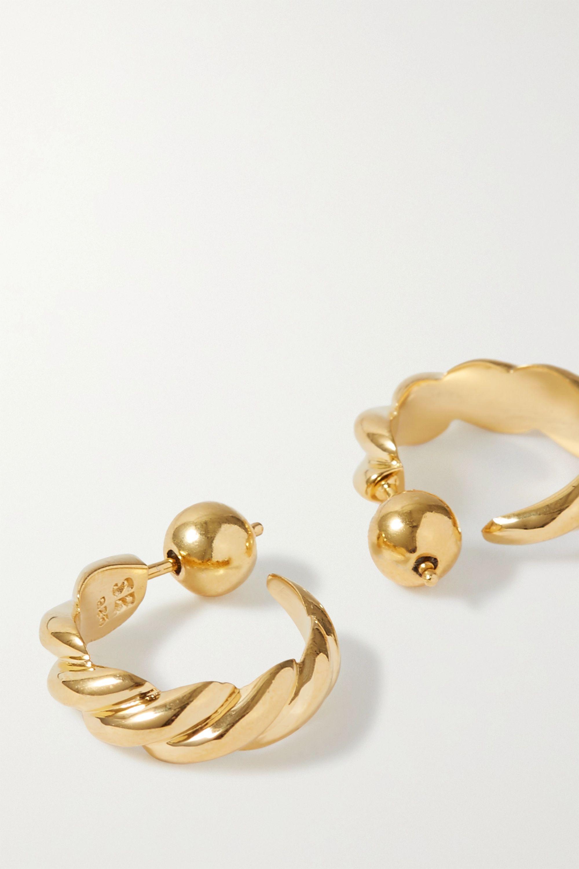 Sophie Buhai + NET SUSTAIN gold vermeil hoop earrings