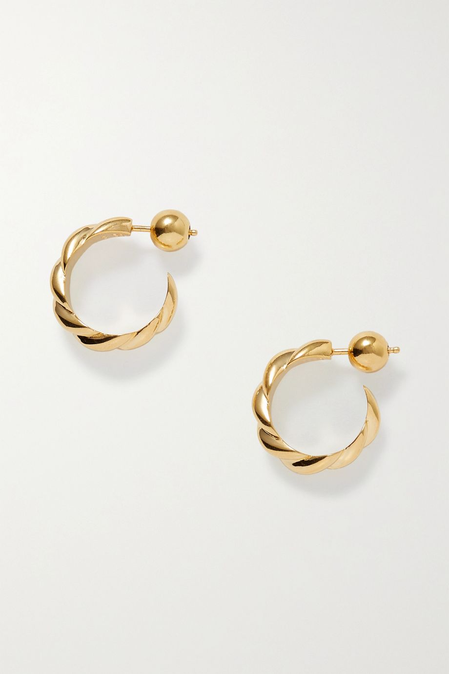 Sophie Buhai + NET SUSTAIN gold vermeil hoop earrings