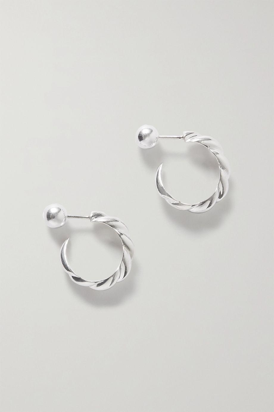 Sophie Buhai + NET SUSTAIN silver hoop earrings