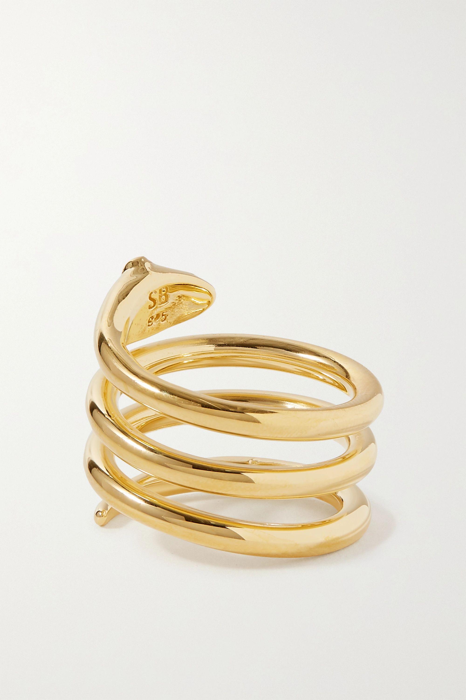 Sophie Buhai + NET SUSTAIN gold vermeil ruby ring