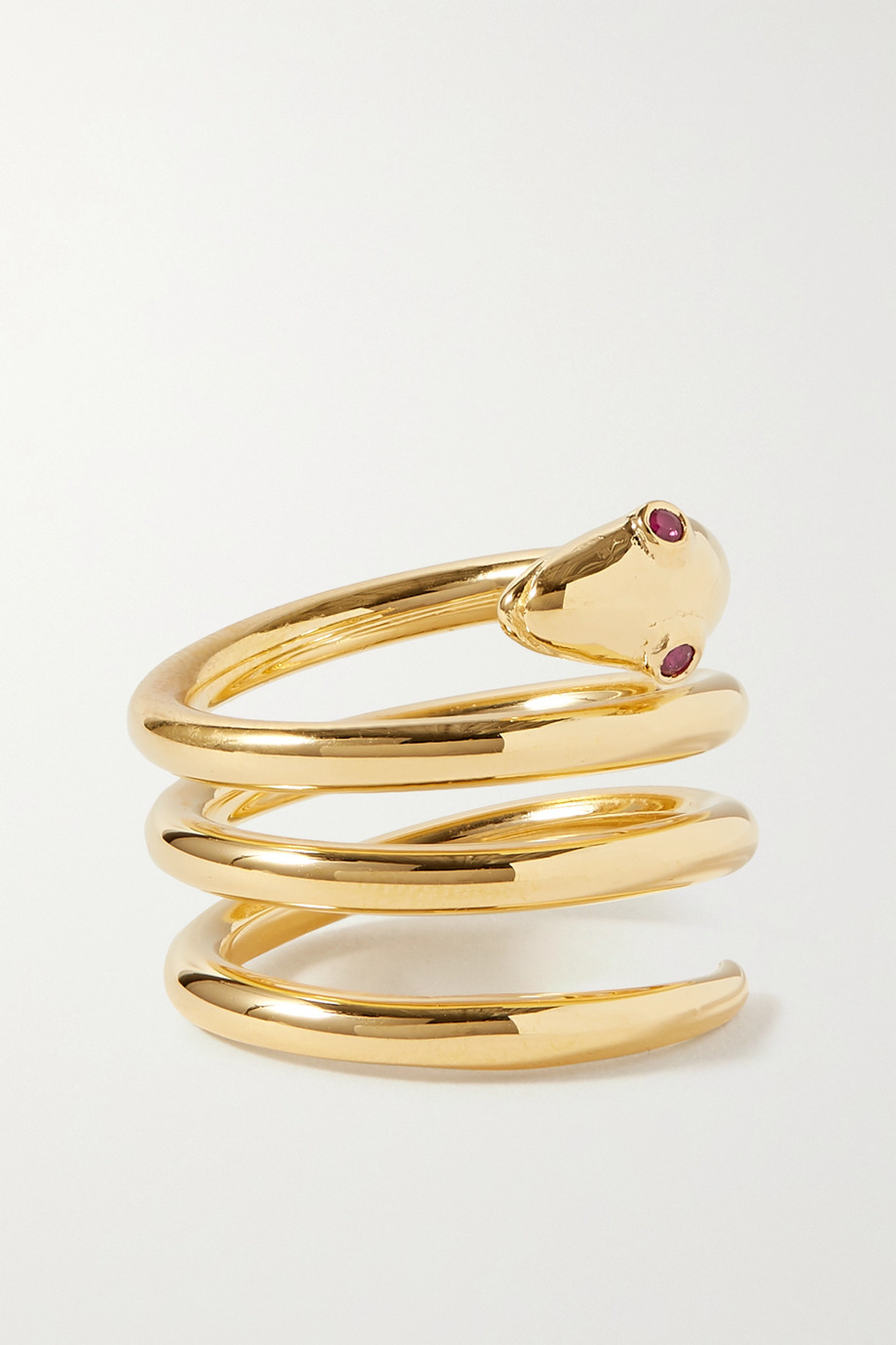 Sophie Buhai + NET SUSTAIN gold vermeil ruby ring