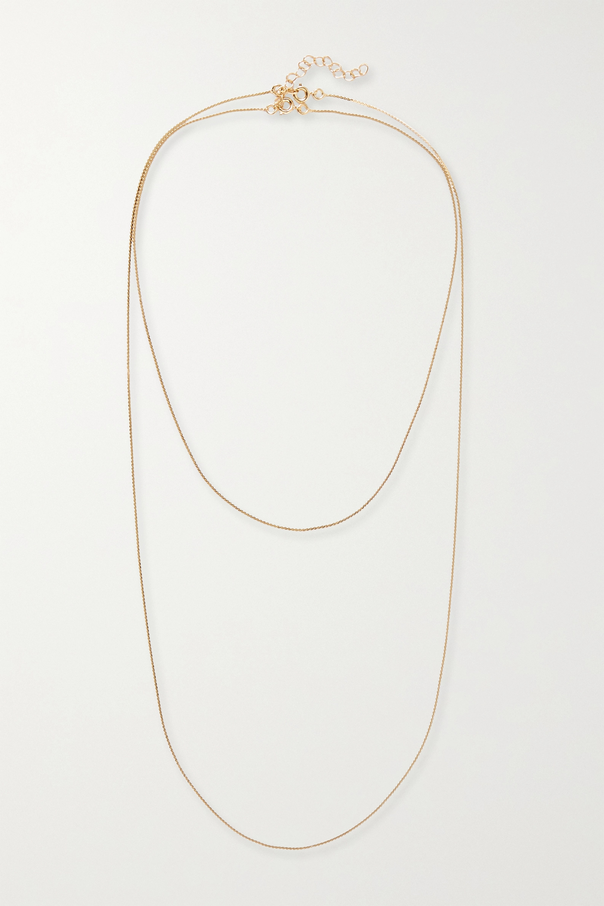 1064 Studio Deep in Grassland set of two gold-plated necklaces
