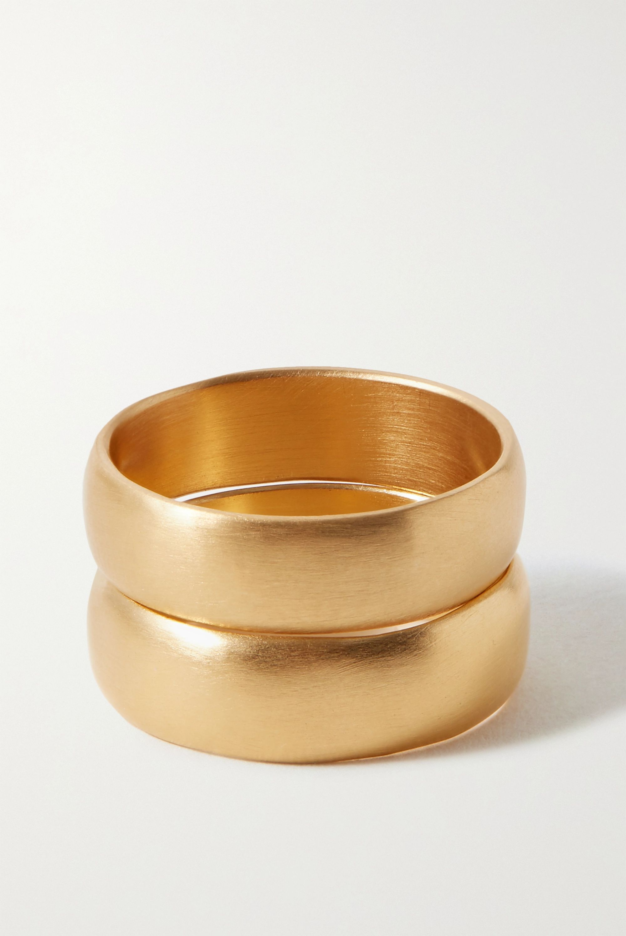 1064 Studio Deep In Grassland set of two gold-plated rings