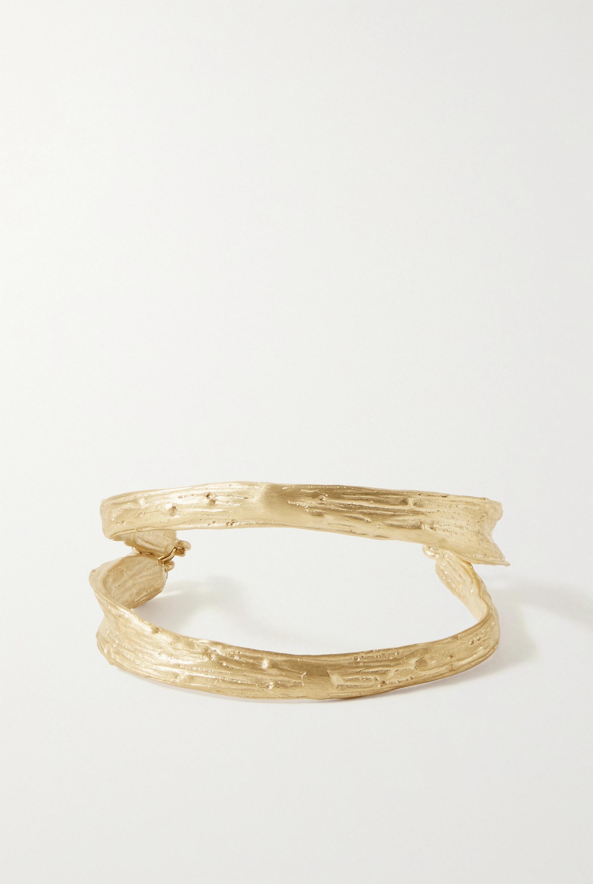 1064 Studio Deep in Grassland gold-plated bracelet