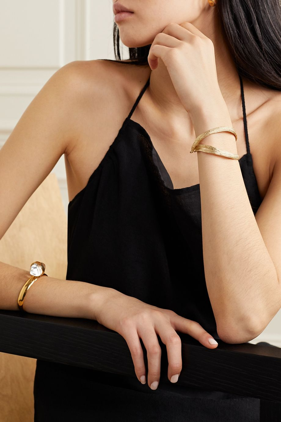 1064 Studio Deep in Grassland gold-plated bracelet