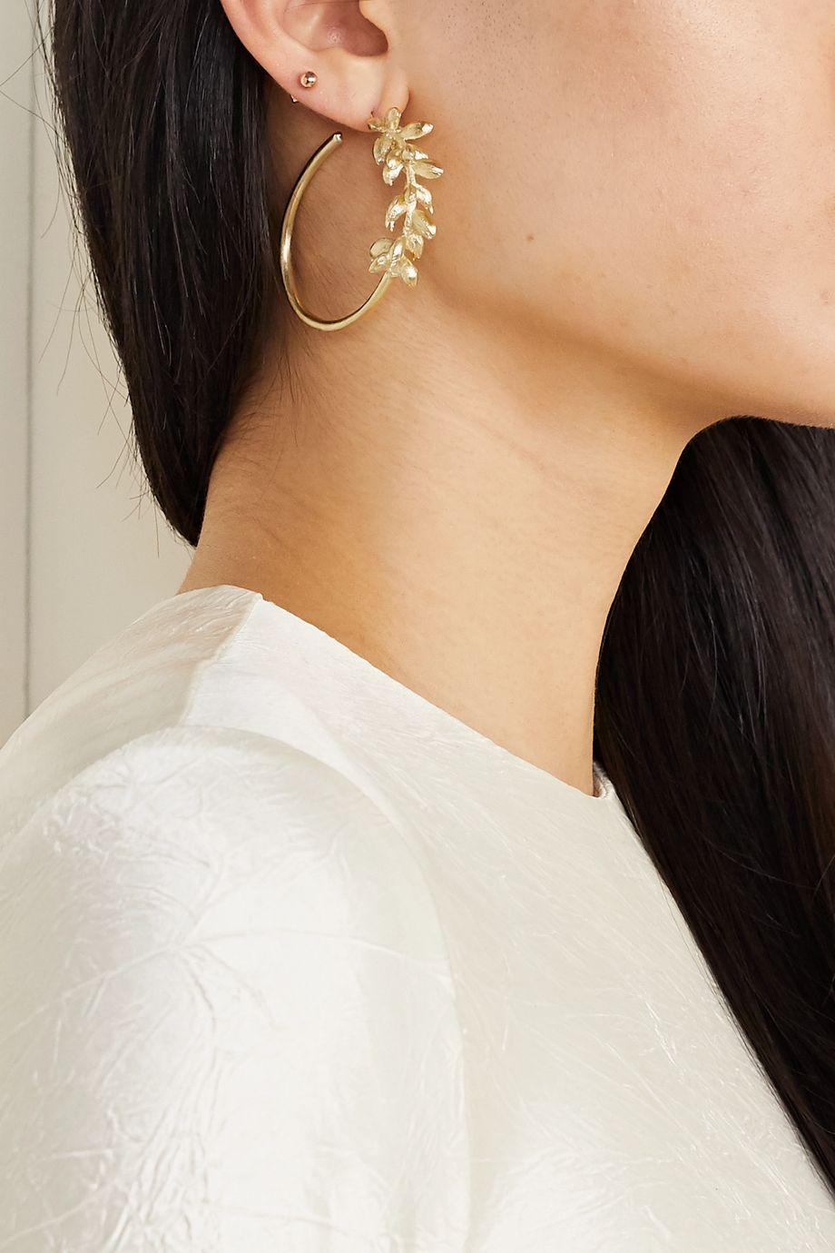 1064 Studio Deep in Grassland gold-plated earrings and ear cuff