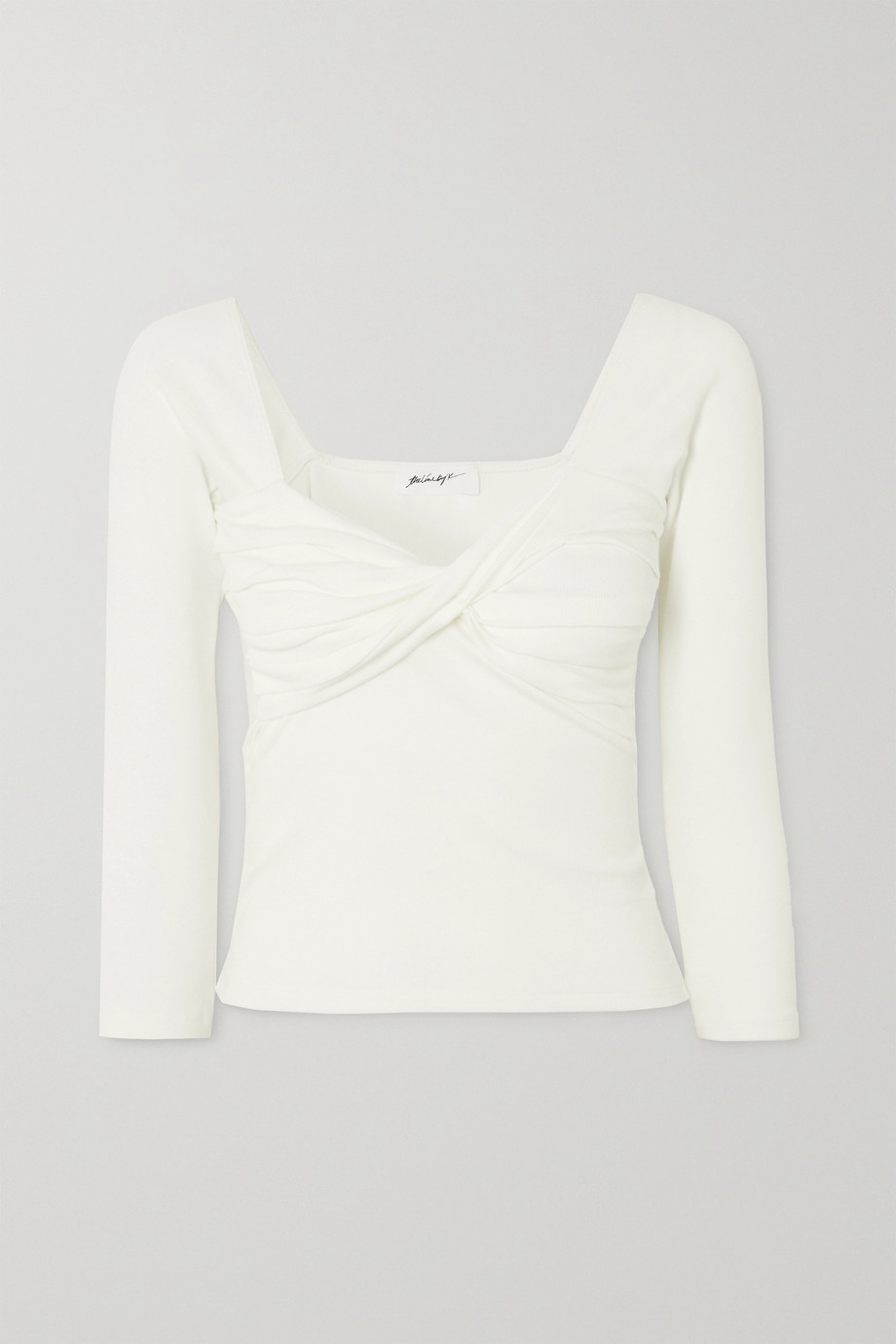 The Line By K Stevie twisted ribbed stretch-cotton jersey top