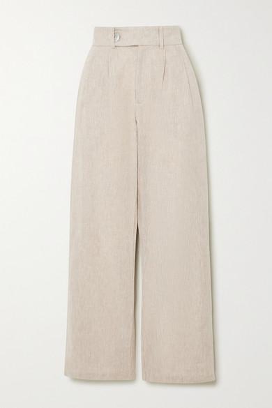 The Line By K - Bettina Linen-blend Wide-leg Pants - Beige