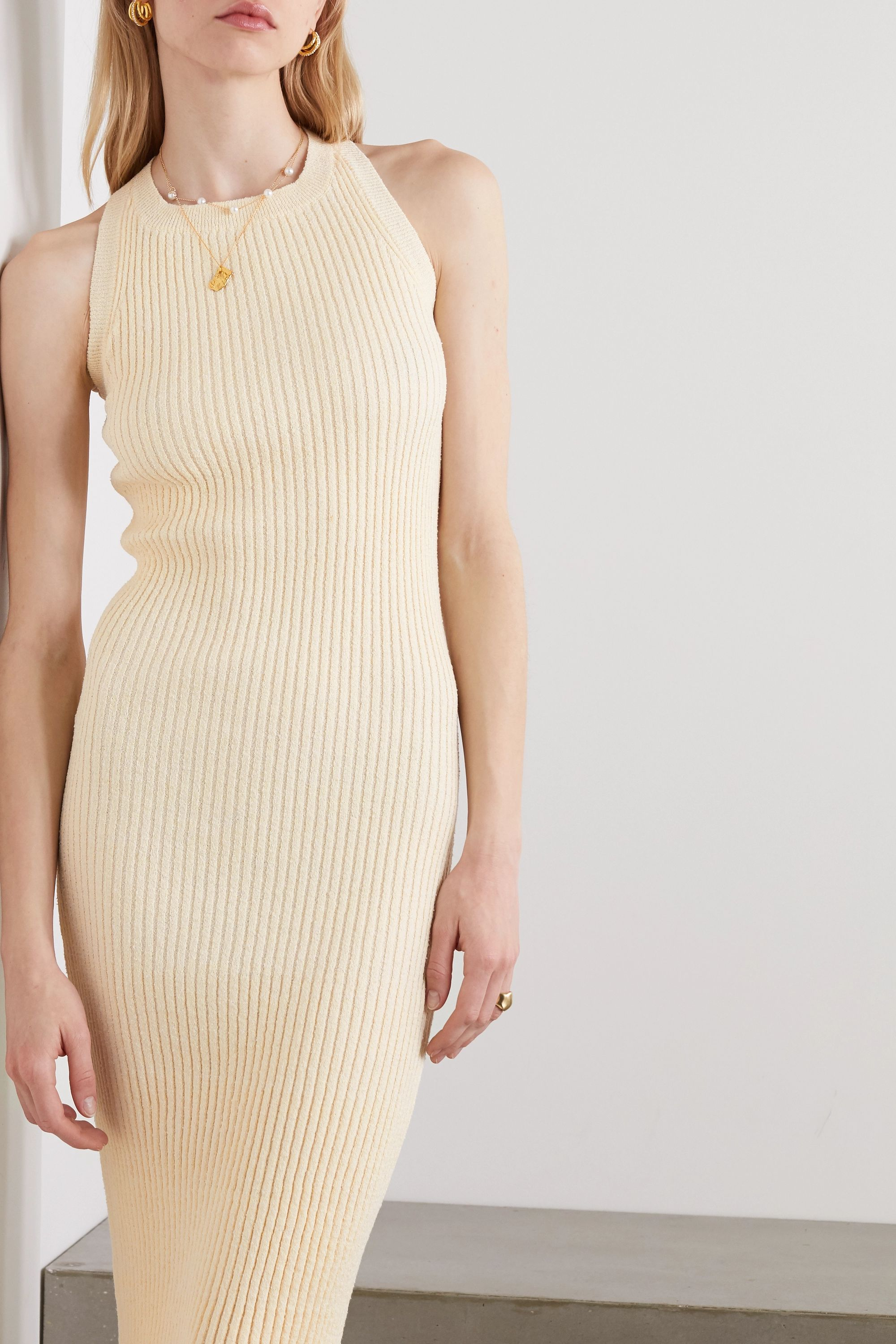 The Line By K Anais open-back ribbed-knit midi dress