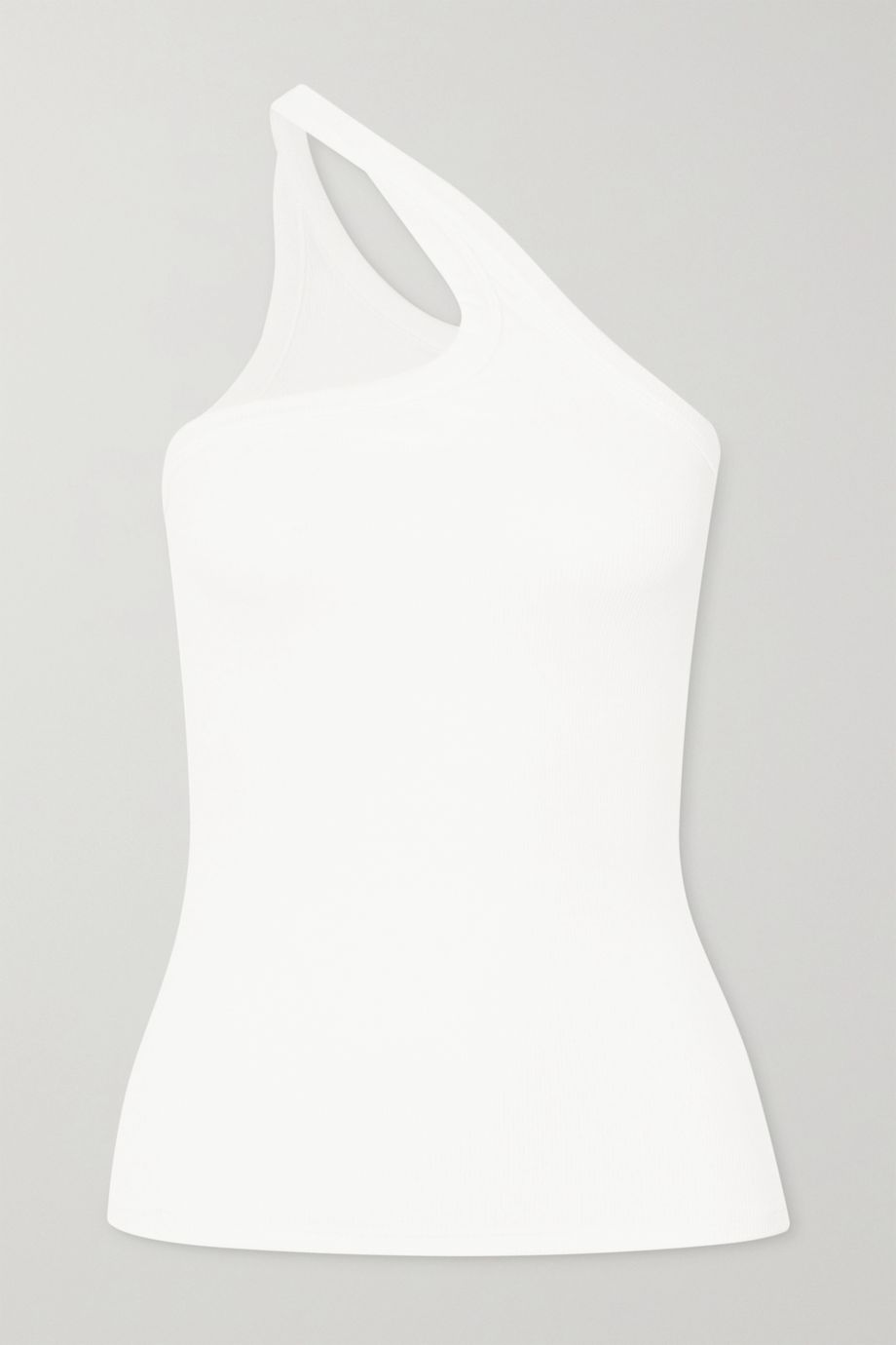 The Line By K Driss one-shoulder ribbed stretch-jersey top