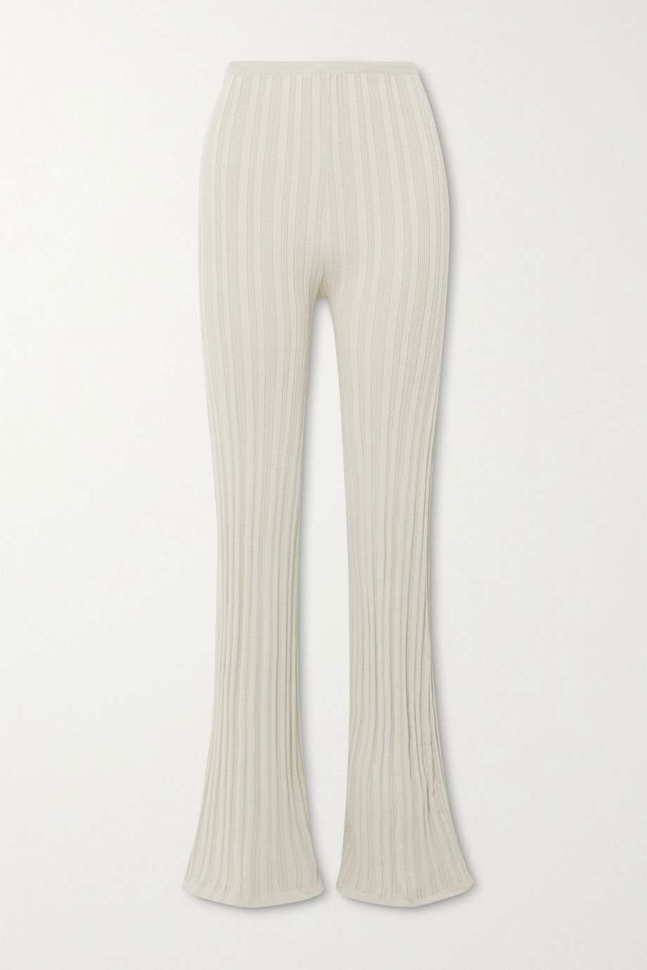 The Line By K Daisy ribbed-knit flared pants