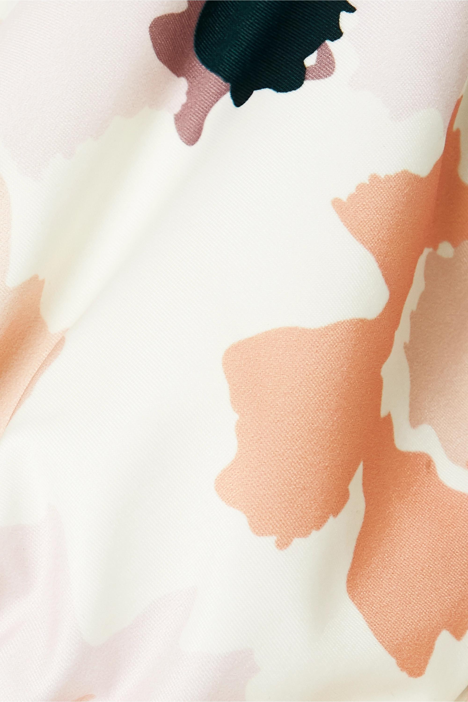 Peony Soirée convertible floral-print bikini top