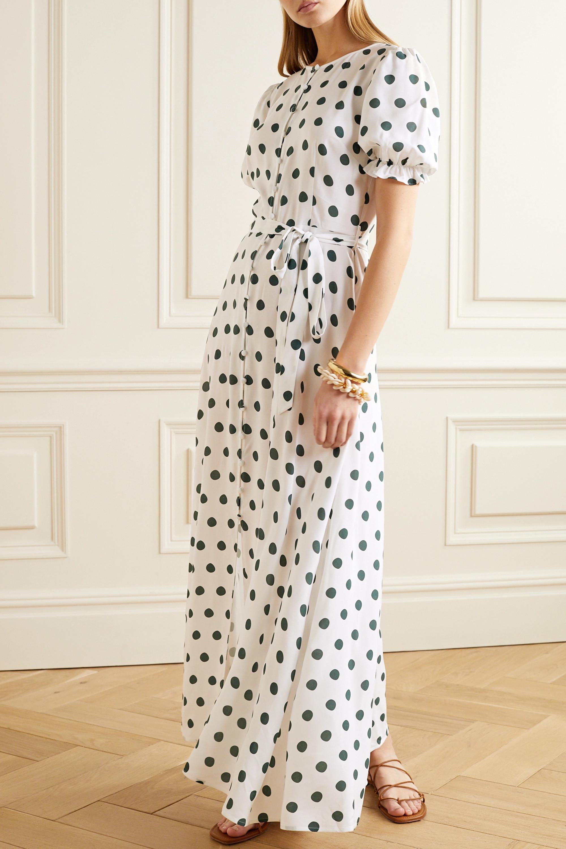 Peony Poolside polka-dot woven maxi dress