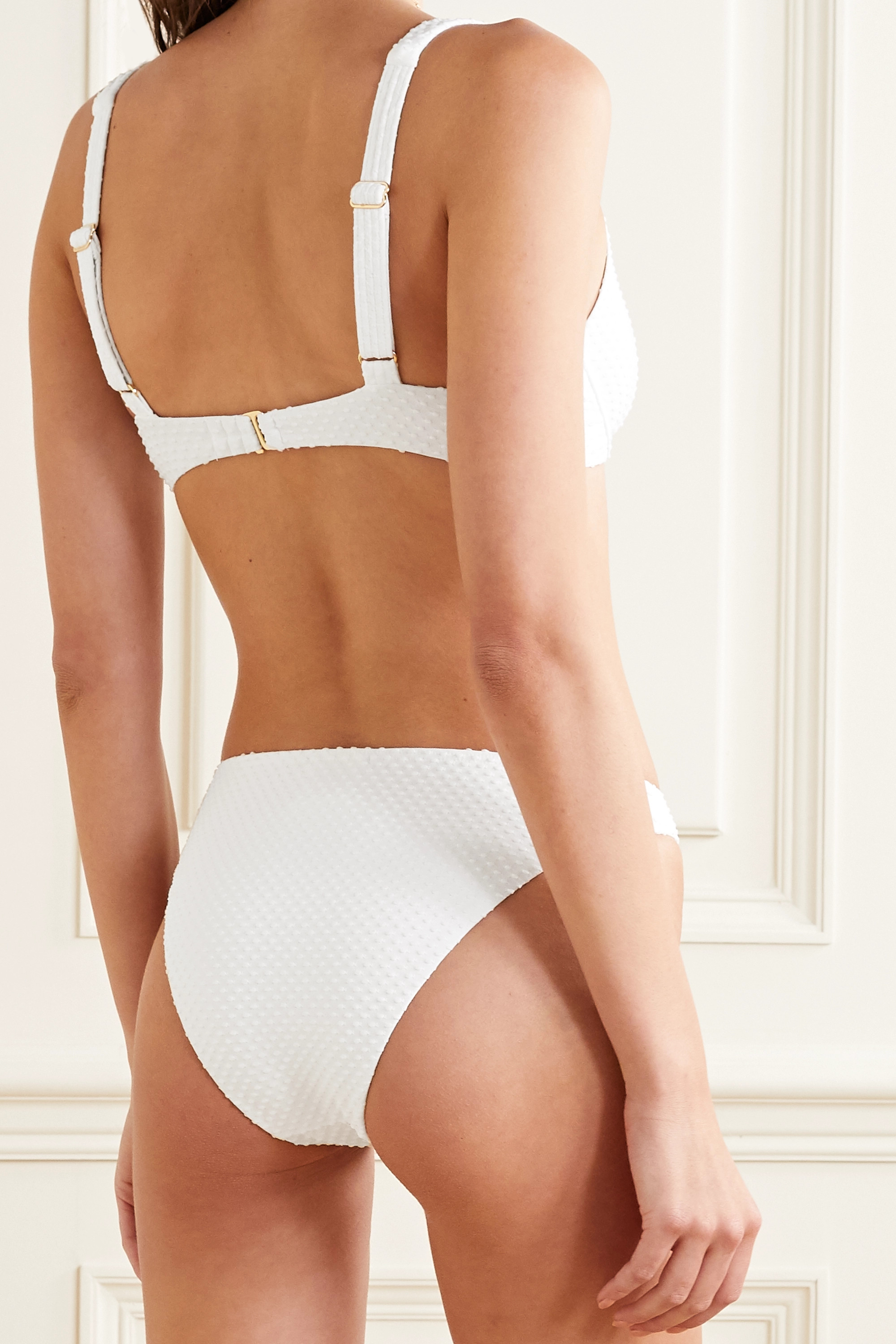 Peony Swiss-dot bikini briefs
