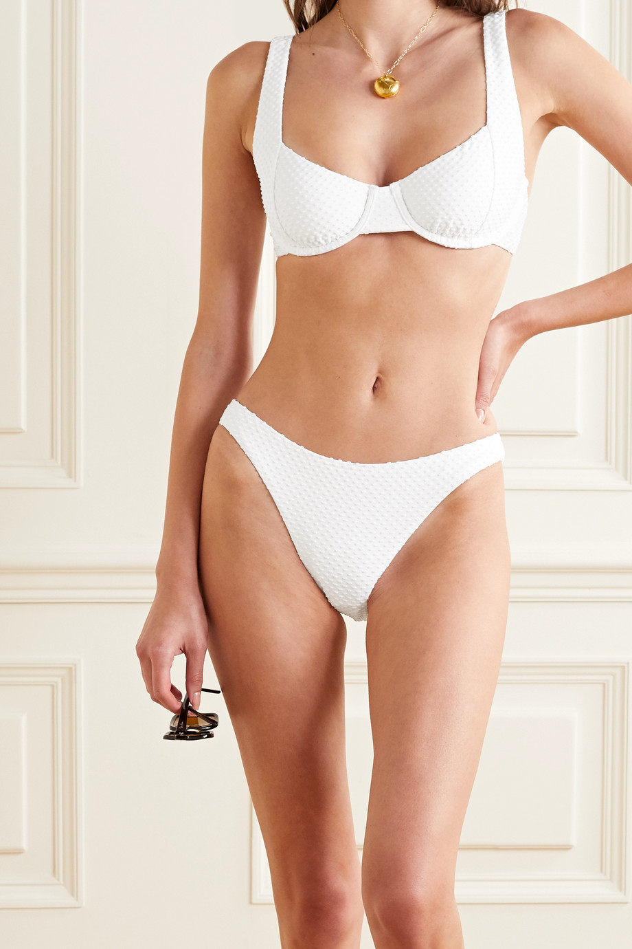 Peony Bikini-Höschen mit Webpunkten