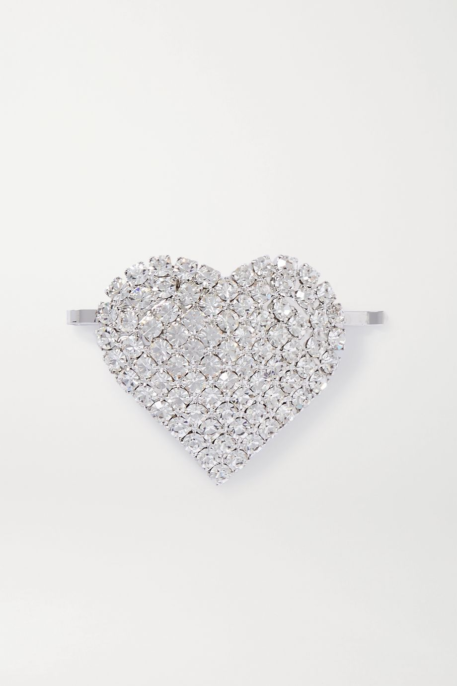 Alessandra Rich 水晶镀铑发夹