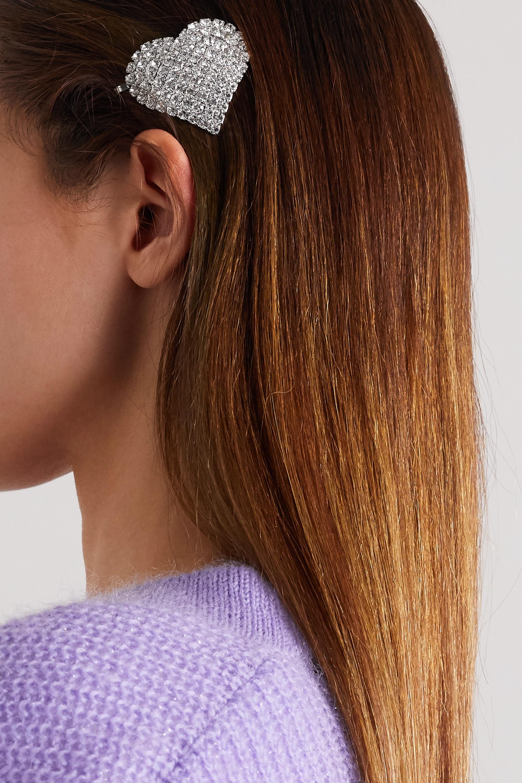 Alessandra Rich Rhodium-plated crystal hair slide