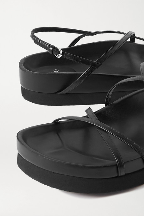 Black Leather platform sandals  | Co epbvhZ