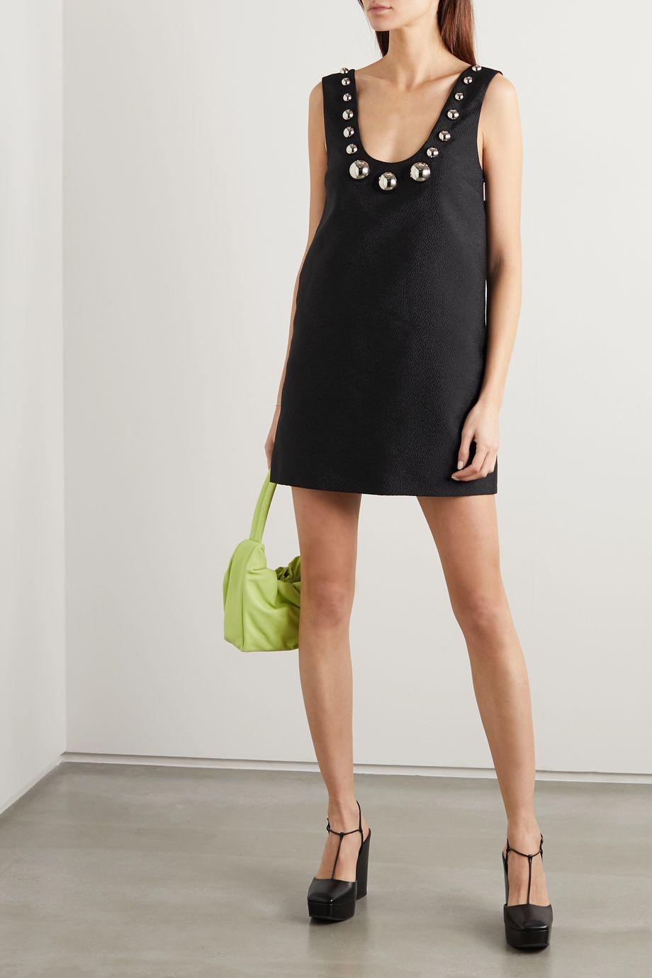 Christopher Kane Embellished jacquard mini dress