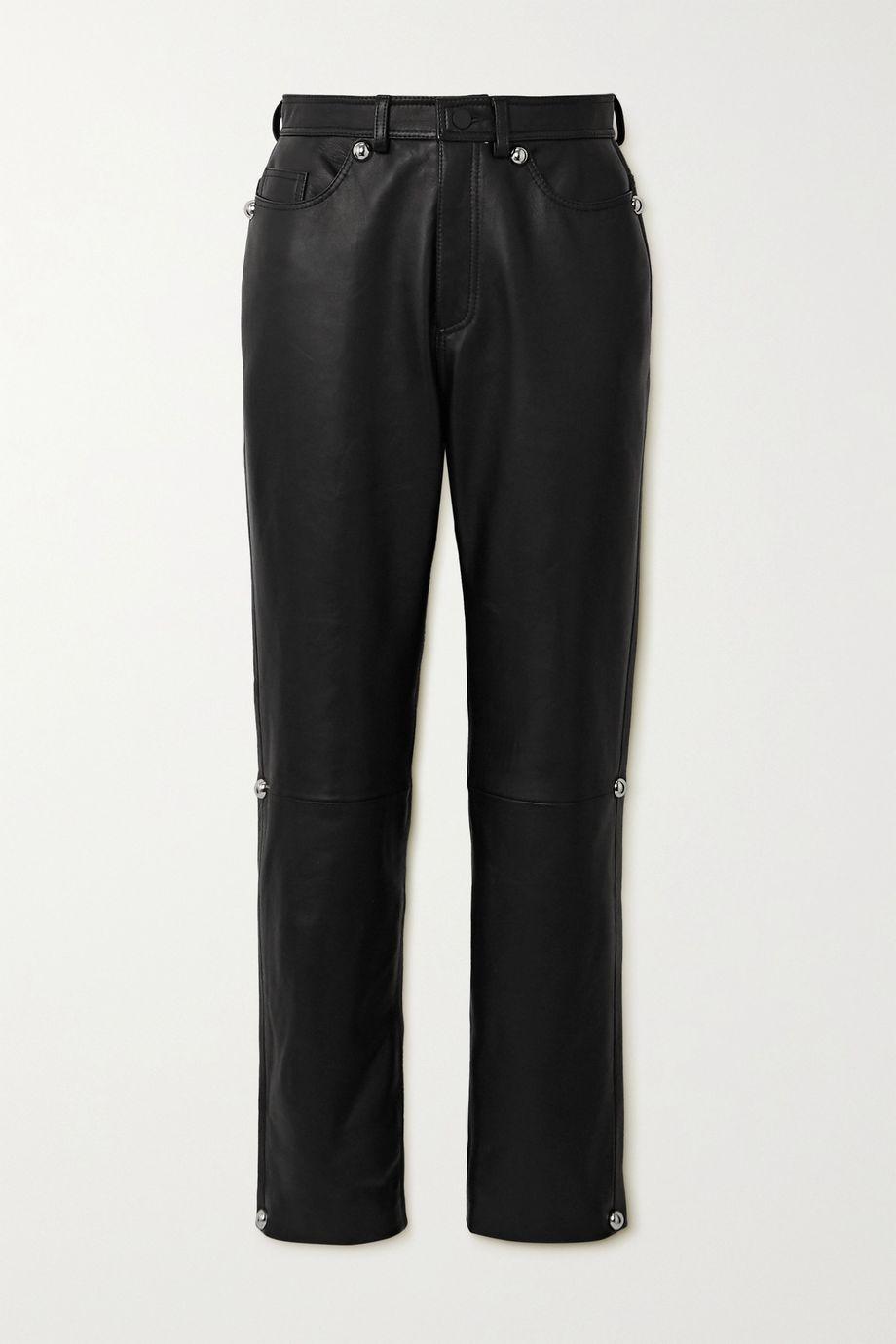 Christopher Kane Dome leather straight-leg pants