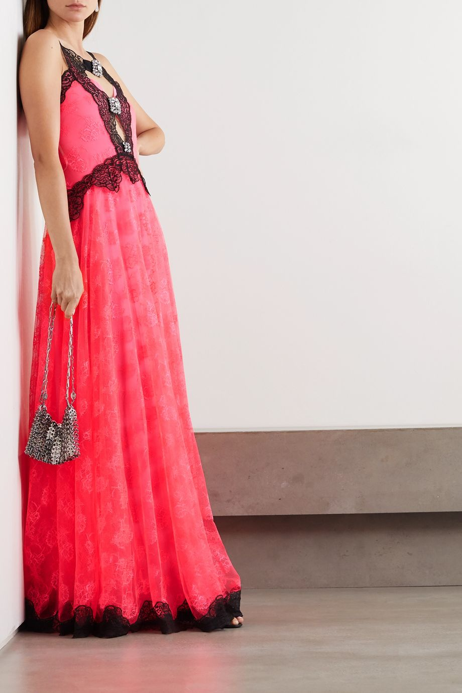 Christopher Kane Crystal-embellished lace gown