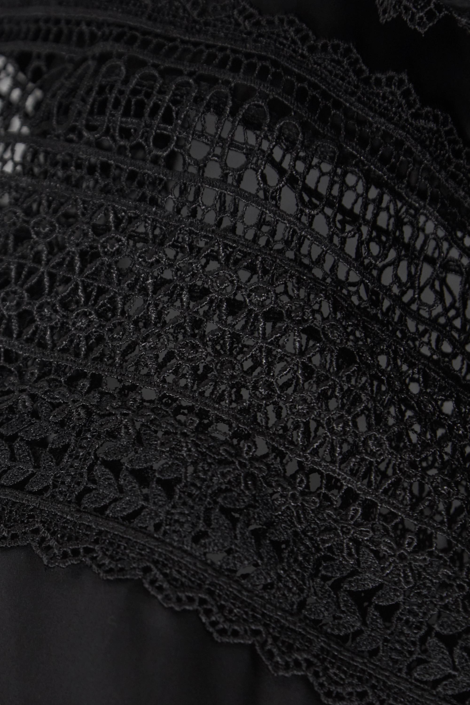 Black Carla Crochet-trimmed Cotton-poplin Midi Dress   Lug Von Siga
