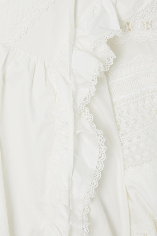 Lug Von Siga Carla gerüschte Bluse aus Baumwolle mit Häkelbesätzen