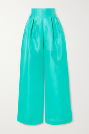 Christopher John Rogers Silk-gazar wide-leg pants