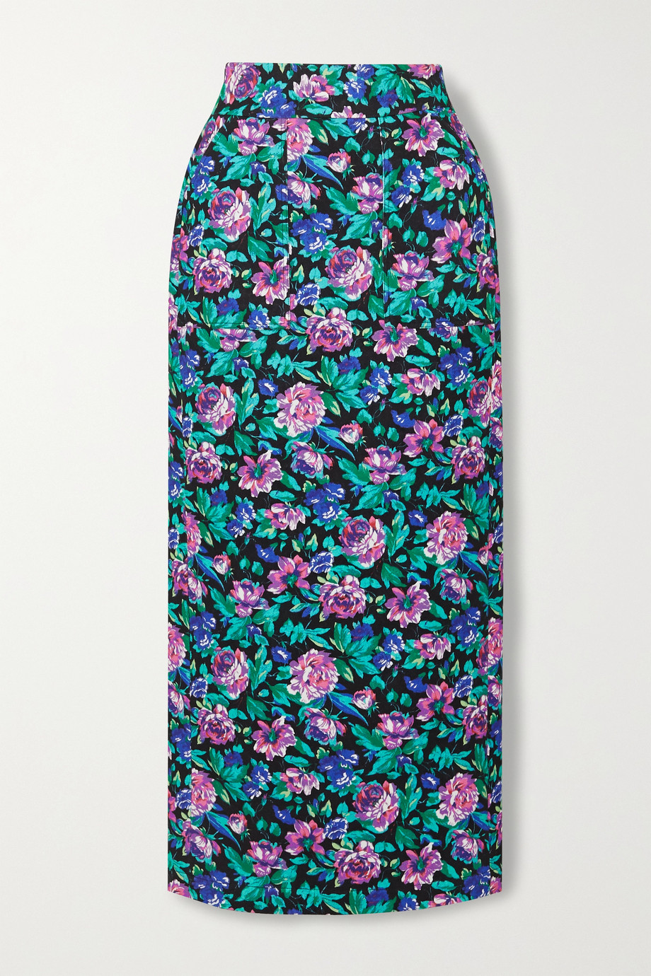 Christopher John Rogers Floral-print cotton skirt