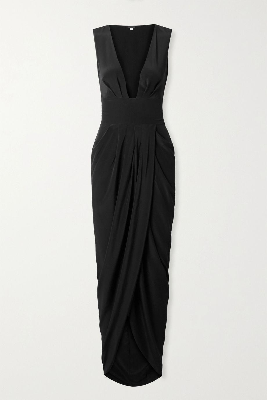 Johanna Ortiz Sparkling Restrepia cutout draped silk-satin maxi dress