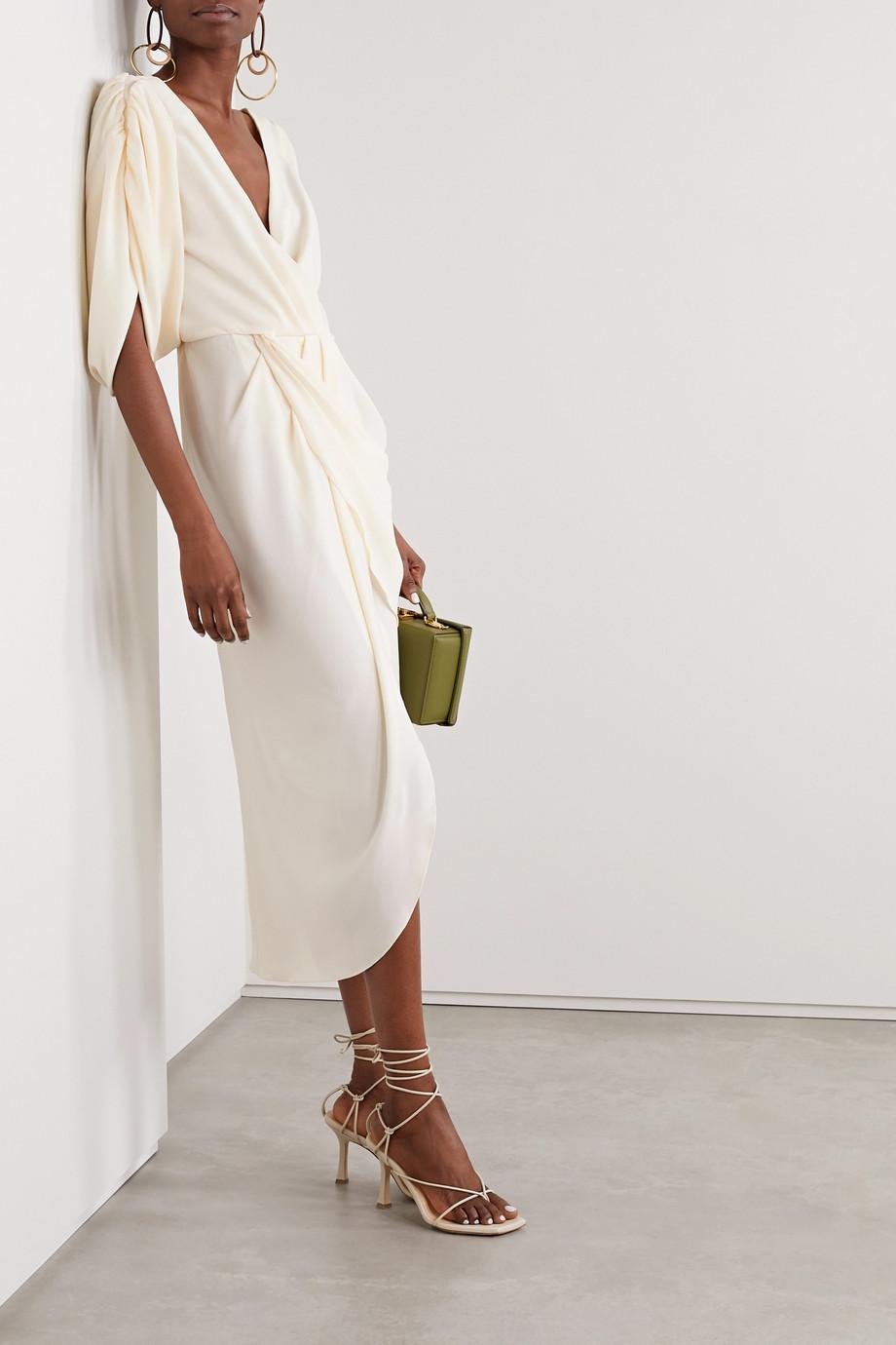 Johanna Ortiz Classic Meets Cuba draped wrap-effect crepe midi dress